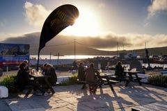 Σκηνή βραδιού σε Portmagee Στοκ Φωτογραφίες
