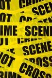 σκηνή εγκλήματος ανασκόπησης Στοκ Εικόνα