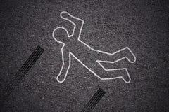 Σκηνή εγκλήματος - τροχαίο στοκ εικόνα με δικαίωμα ελεύθερης χρήσης