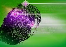 Σκηνή εγκλήματος - βιομετρικός ανιχνευτής ασφάλειας - προσδιορισμός Στοκ φωτογραφία με δικαίωμα ελεύθερης χρήσης