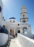 Σκηνή εκκλησιών Santorini Στοκ Φωτογραφία