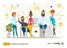 Σκηνή επιχειρησιακών χαρακτήρων Στοκ Εικόνα