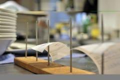 σκηνή εστιατορίων κουζι&n Στοκ Εικόνα