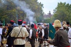Σκηνή ημέρας ενοποίησης Plovdiv Στοκ φωτογραφία με δικαίωμα ελεύθερης χρήσης