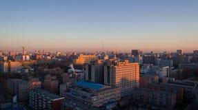 Σκηνή ηλιοβασιλέματος πόλεων του Πεκίνου Στοκ Εικόνες