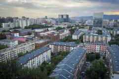 Σκηνή 3 ηλιοβασιλέματος πόλεων του Πεκίνου Στοκ εικόνες με δικαίωμα ελεύθερης χρήσης