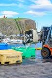 Σκηνή λιμένων αλιείας σε Stykkisholmur Στοκ Εικόνα