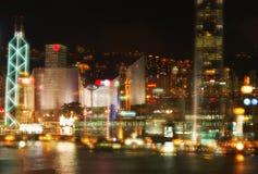 Σκηνή λιμενικής νύχτας Χονγκ Κονγκ στοκ εικόνες