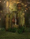 Σκηνή κήπων φαντασίας διανυσματική απεικόνιση