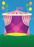 Σκηνή καρναβαλιού τσίρκων Στοκ φωτογραφίες με δικαίωμα ελεύθερης χρήσης