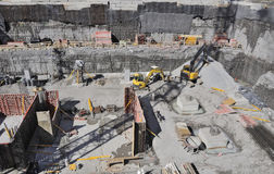σκηνή κατασκευής Στοκ Εικόνες
