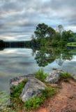 σκηνή λιμνών Στοκ Φωτογραφίες