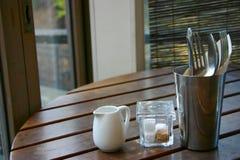 σκηνή μεσημεριανού γεύματ& Στοκ Φωτογραφία