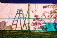 Σκηνή με τις σκιές που πετιούνται επάνω σε το Στοκ φωτογραφίες με δικαίωμα ελεύθερης χρήσης