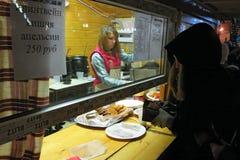 Σκηνή με το γρήγορο φαγητό Στοκ φωτογραφία με δικαίωμα ελεύθερης χρήσης