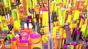 Σκηνή μιας εικονικής μητρόπολης που βλέπει άνωθεν στοκ φωτογραφία με δικαίωμα ελεύθερης χρήσης