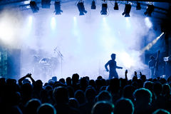 σκηνή μουσικής συναυλίας ακροατηρίων στοκ εικόνες