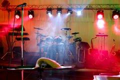 Σκηνή μουσικής Στοκ φωτογραφίες με δικαίωμα ελεύθερης χρήσης