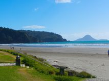 Σκηνή Νέα Ζηλανδία παραλιών Στοκ Εικόνα