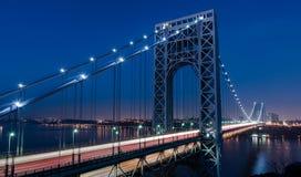 Σκηνή νύχτας γεφυρών του George Washington Στοκ φωτογραφία με δικαίωμα ελεύθερης χρήσης