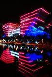 σκηνή νύχτας κατασκευής Στοκ φωτογραφία με δικαίωμα ελεύθερης χρήσης