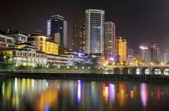 σκηνή νύχτας πόλεων στοκ φωτογραφία