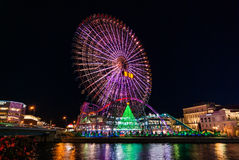 Σκηνή νύχτας σε Yokohama Στοκ Φωτογραφίες