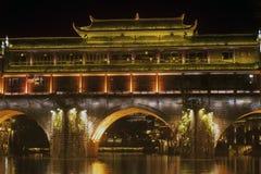 Σκηνή νύχτας στην αρχαία πόλη Fenghuang Στοκ Φωτογραφίες