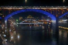 Σκηνή νύχτας στην αρχαία πόλη Fenghuang Στοκ εικόνες με δικαίωμα ελεύθερης χρήσης