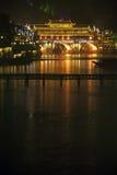 Σκηνή νύχτας στην αρχαία πόλη Fenghuang Στοκ εικόνα με δικαίωμα ελεύθερης χρήσης
