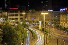 Σκηνή νύχτας στη Φρανκφούρτη στη Γερμανία Στοκ Φωτογραφίες