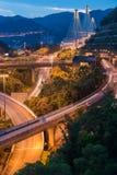 Σκηνή νύχτας της γέφυρας αναστολής KAU κουδουνισμάτων Στοκ φωτογραφία με δικαίωμα ελεύθερης χρήσης