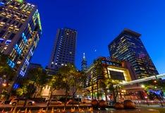 Σκηνή νύχτας της πόλης της Ταϊπέι Στοκ Φωτογραφίες