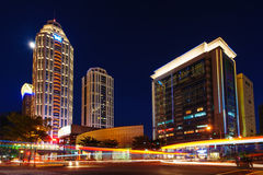 Σκηνή νύχτας της πόλης της Ταϊπέι Στοκ εικόνα με δικαίωμα ελεύθερης χρήσης