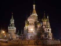 σκηνή νύχτας του Κρεμλίνου Στοκ εικόνες με δικαίωμα ελεύθερης χρήσης