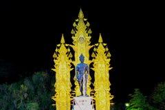 Σκηνή νύχτας του μνημείου Meng Rai βασιλιάδων, Chiang Rai, βόρεια Ταϊλάνδη Στοκ Εικόνες