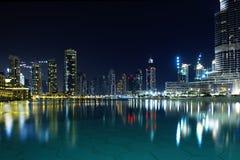 σκηνή νύχτας του Ντουμπάι Στοκ εικόνες με δικαίωμα ελεύθερης χρήσης
