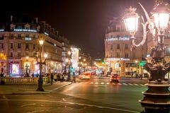 Σκηνή νύχτας του Παρισιού Στοκ Εικόνες