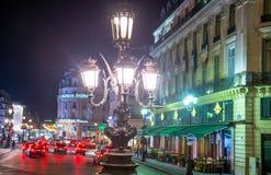Σκηνή νύχτας του Παρισιού Στοκ φωτογραφία με δικαίωμα ελεύθερης χρήσης