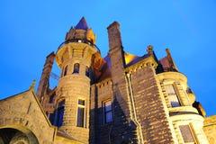 Σκηνή νύχτας του Castle σε Βικτώρια Στοκ εικόνα με δικαίωμα ελεύθερης χρήσης