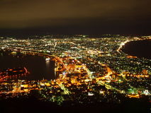 σκηνή νύχτας του Hakodate Στοκ εικόνες με δικαίωμα ελεύθερης χρήσης