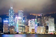 Σκηνή νύχτας Χονγκ Κονγκ Στοκ Φωτογραφία