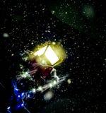 Σκηνή νύχτας Χριστουγέννων Στοκ φωτογραφίες με δικαίωμα ελεύθερης χρήσης