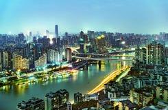 Σκηνή νύχτας Chongqing Στοκ Φωτογραφίες