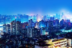 Σκηνή νύχτας Chongqing Στοκ Εικόνα