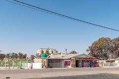 Σκηνή οδών με το εστιατόριο μια λήψη-aways-λήψη σε Vredefort στοκ φωτογραφία με δικαίωμα ελεύθερης χρήσης