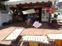 Σκηνή οδών σε Luang Prabang, Λάος Στοκ Εικόνες
