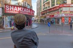 Σκηνή οδών στην περιοχή Deira, Ντουμπάι στοκ φωτογραφίες