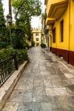Σκηνή οδών της Αθήνας στοκ εικόνες με δικαίωμα ελεύθερης χρήσης