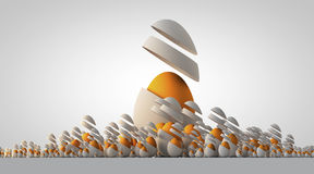 Σκηνή 4 ομάδα 2017 αυγών ελεύθερη απεικόνιση δικαιώματος